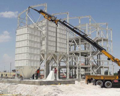 Taşpınar Yem Fabrikası İnşaatı Devam Ediyor